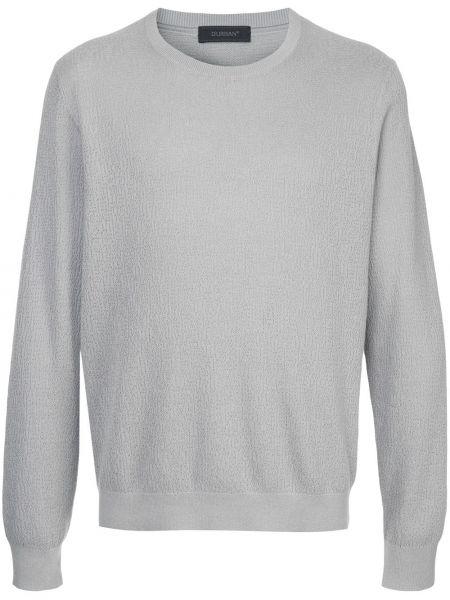 Городской хлопковый серый свитер с круглым вырезом D'urban