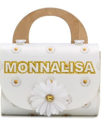 Сумка круглая белая Monnalisa