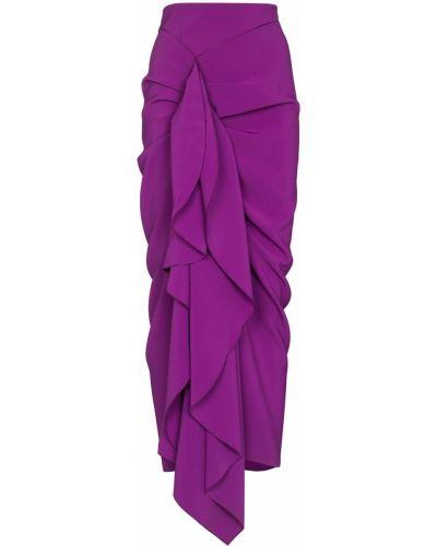 Юбка с завышенной талией - фиолетовая Solace London