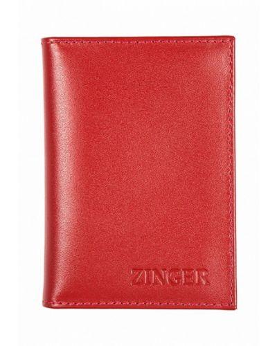 Красная визитница Zinger