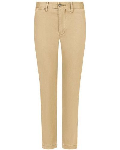 Укороченные джинсы бежевые однотонные Polo Ralph Lauren