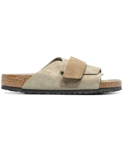 Otwarty z paskiem skórzany sandały otwarty palec u nogi Birkenstock