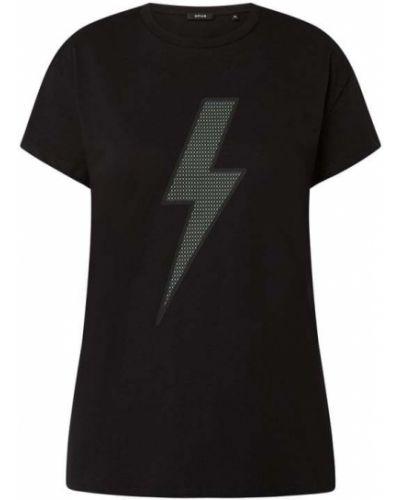 T-shirt z printem - czarna Opus