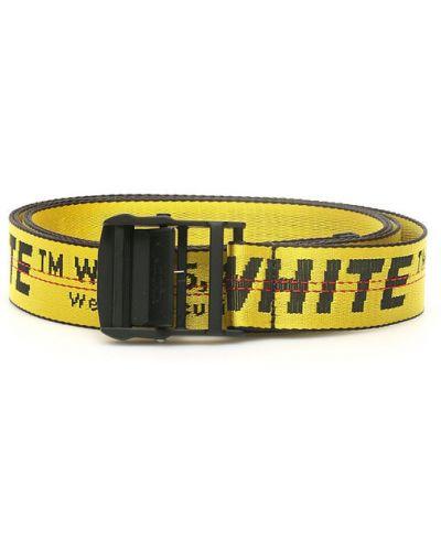 Pasek w paski z paskiem materiałowy Off-white