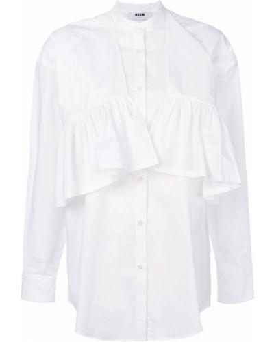 Рубашка с длинным рукавом с воротником-стойкой с оборками Msgm