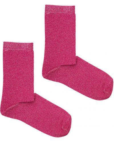 Różowe skarpety bawełniane Kabak