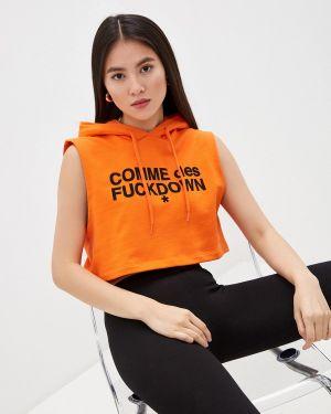 Оранжевая толстовка Comme Des Fuckdown