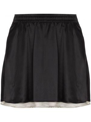 Шелковая прямая черная юбка мини Y Project