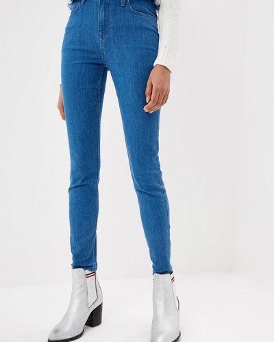 Голубые джинсы-скинни Lee