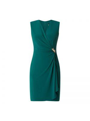 Złota zielona sukienka koktajlowa kopertowa Paradi