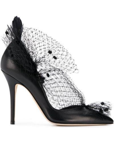 Вуалетка черный кожаный Andrea Mondin