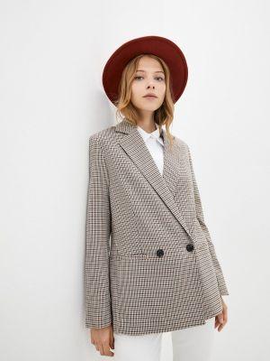 Коричневый зимний пиджак Mango