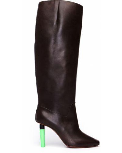 Кожаные сапоги на каблуке на каблуке Vetements