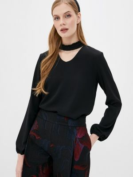 Черная блузка Stefanel