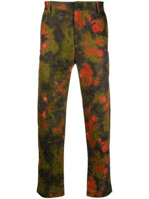 Zielone spodnie bawełniane z paskiem Goodfight
