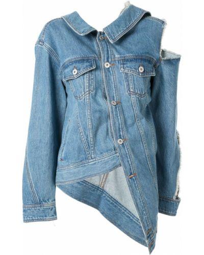 Хлопковая синяя джинсовая куртка с воротником Ground Zero