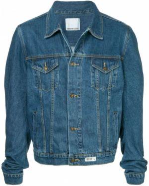 Синяя джинсовая куртка на пуговицах Ground Zero