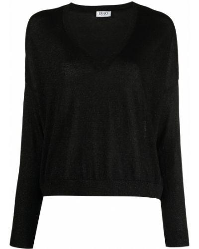 Trykotowy bawełna bawełna sweter z okrągłym dekoltem Liu Jo