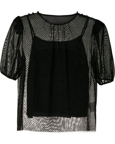 Блузка с коротким рукавом батник из фатина НК