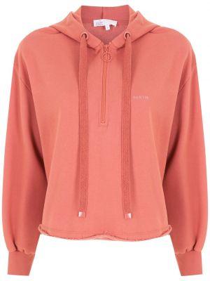 Розовое худи с вышивкой НК