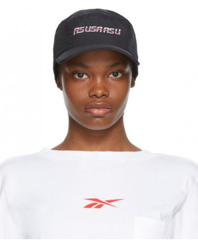 Złota czarna czapka z haftem Reebok By Pyer Moss