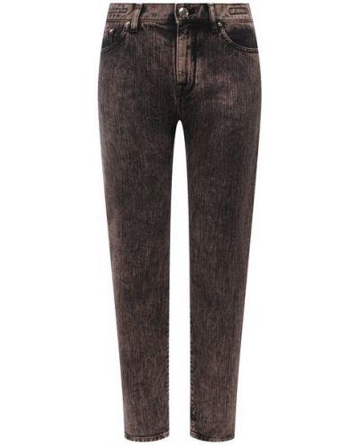 Хлопковые коричневые джинсы Jacob Cohen