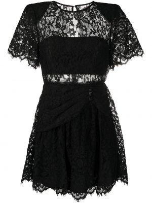 Кружевное платье мини - черное Self-portrait