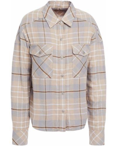 Flanelowa koszula - beżowa Rag & Bone