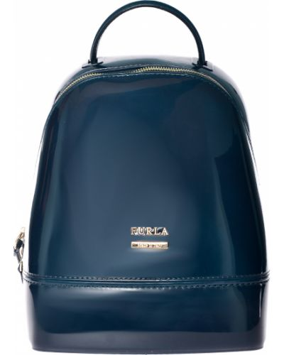 Бирюзовый силиконовый рюкзак Furla