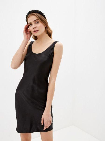 Платье платье-комбинация черное Lime