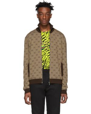 Sweter włosy wielbłąda z kołnierzem Gucci