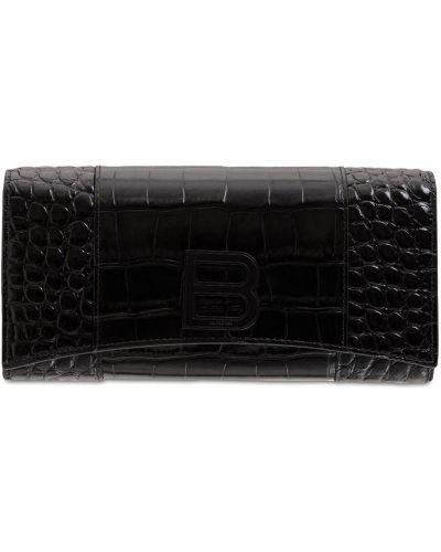 Czarny portfel skórzany Balenciaga
