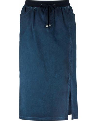 Юбка на резинке синяя Bonprix
