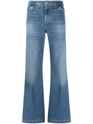 Синие джинсы стрейч с вышивкой Jacob Cohen