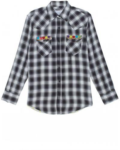 Рубашка в клетку - белая Forte Couture