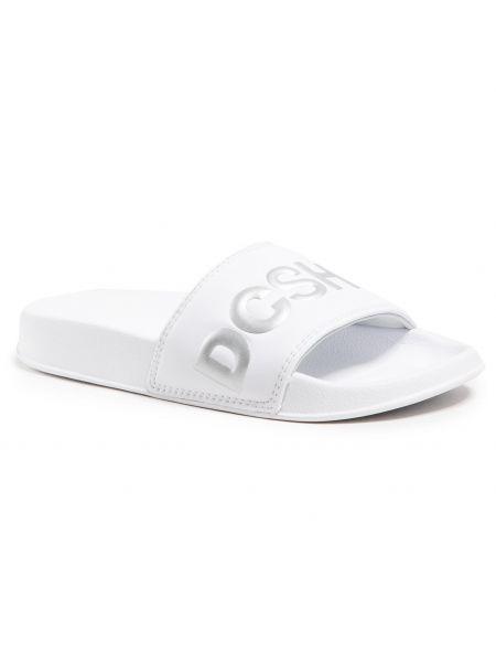 Sandały srebrne - białe Dc