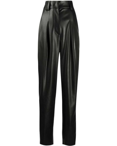 Кожаные черные брюки с карманами Brognano