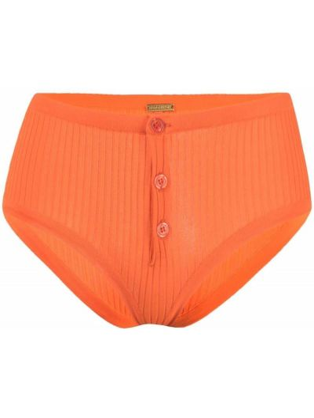 Prążkowane pomarańczowe majtki z wiskozy Dodo Bar Or
