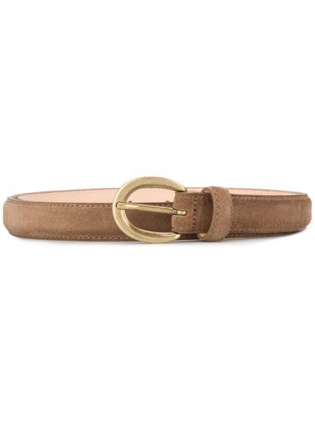 Коричневый кожаный ремень с пряжкой круглый Closed