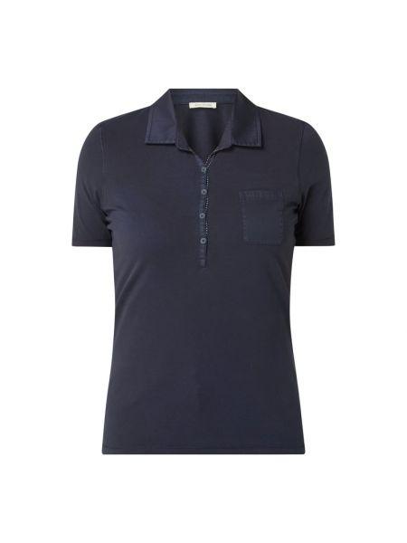 Bawełna bawełna niebieski t-shirt wąskie cięcie Marc O'polo