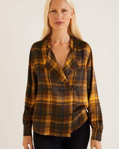 Блузка с воротником-стойкой из вискозы Mango