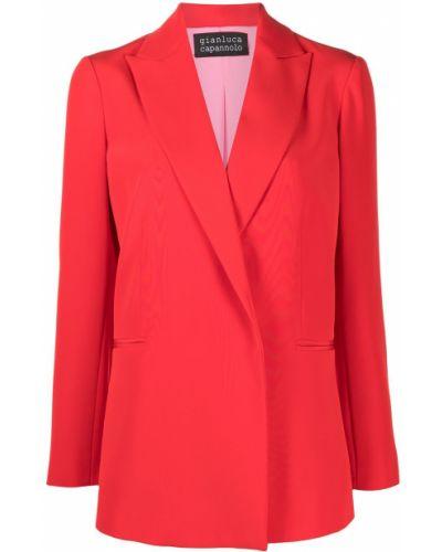 Красный приталенный классический пиджак с лацканами Gianluca Capannolo
