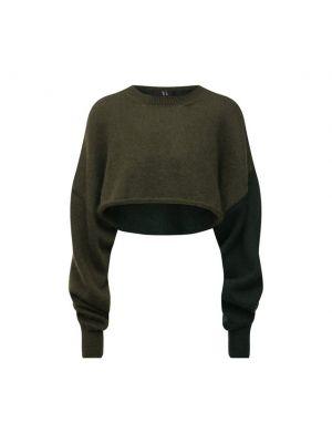 Пуловер из мохера - зеленый Y`s