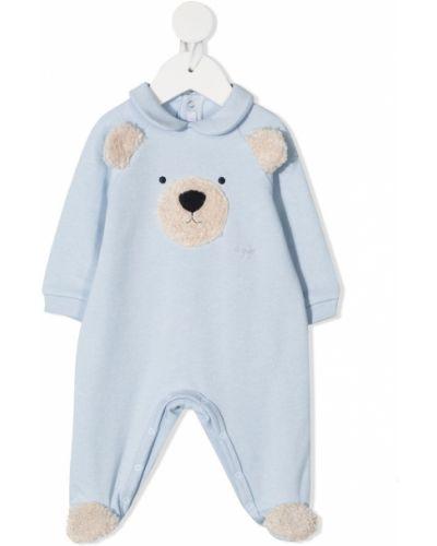 Niebieska piżama bawełniana z długimi rękawami Il Gufo