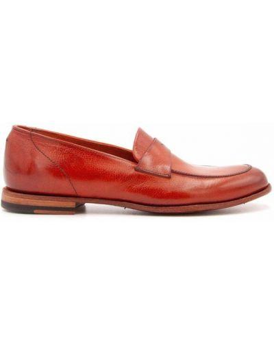 Czerwone loafers Pantanetti