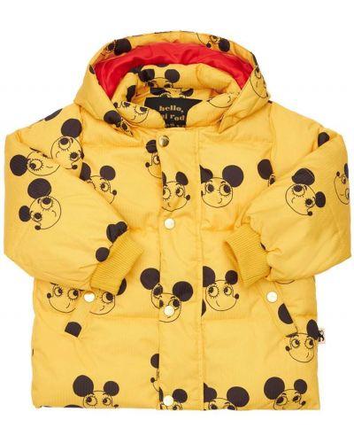 Дутая куртка - желтая Mini Rodini