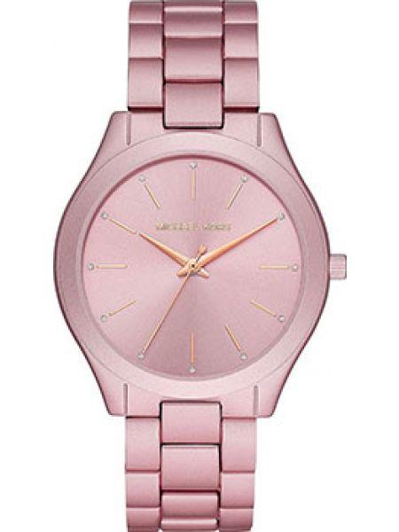 Со стрелками розовые кварцевые часы круглые Michael Kors