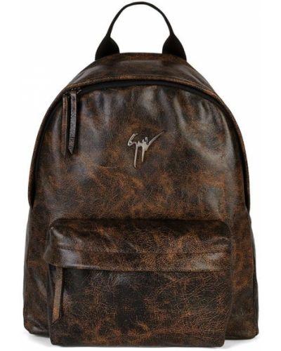 Plecak skórzany - brązowy Giuseppe Zanotti