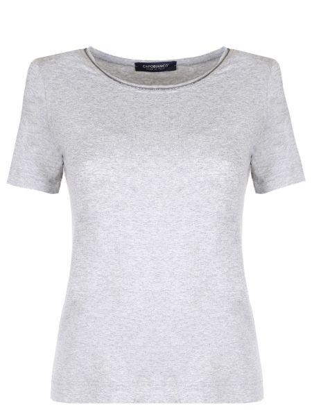 Футбольная базовая серая футболка из вискозы Capobianco