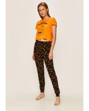 Piżama bawełniana - pomarańczowa Brave Soul
